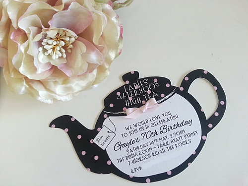Kitchen Tea Invitation Cards
