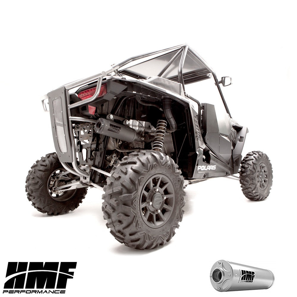 hmf titan ss big core full exhaust for rzr 1000 xp turbo snorkelyouratv