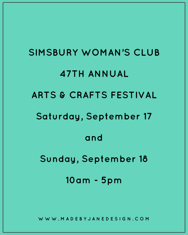 Image result for Simsbury Woman's Club Annual Arts & Crafts Festival