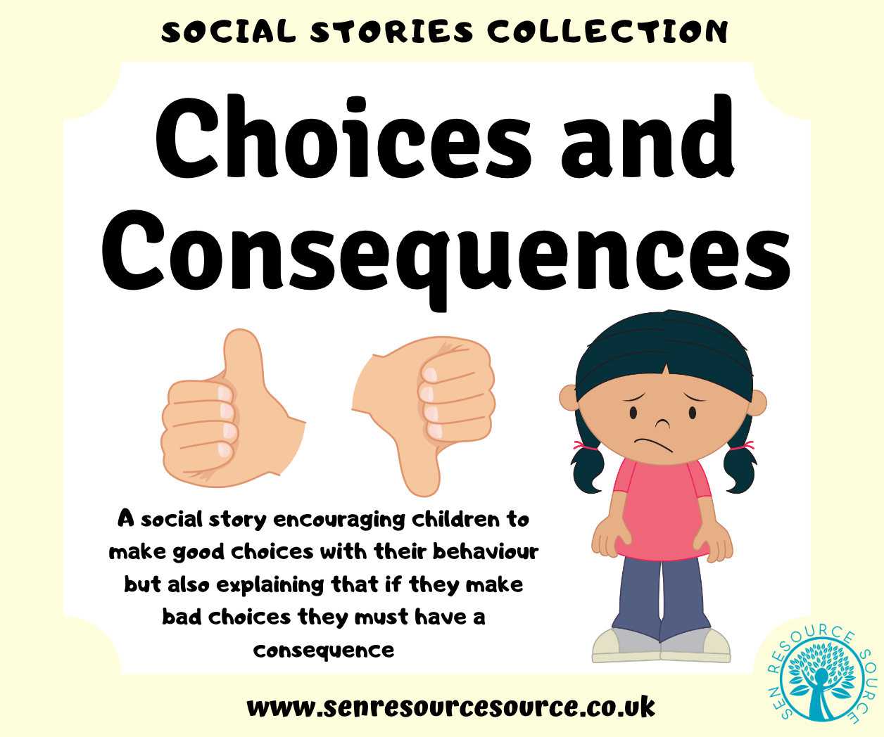 Choices And Consequences Social Story