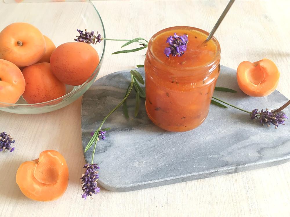 confiture abricot lavande