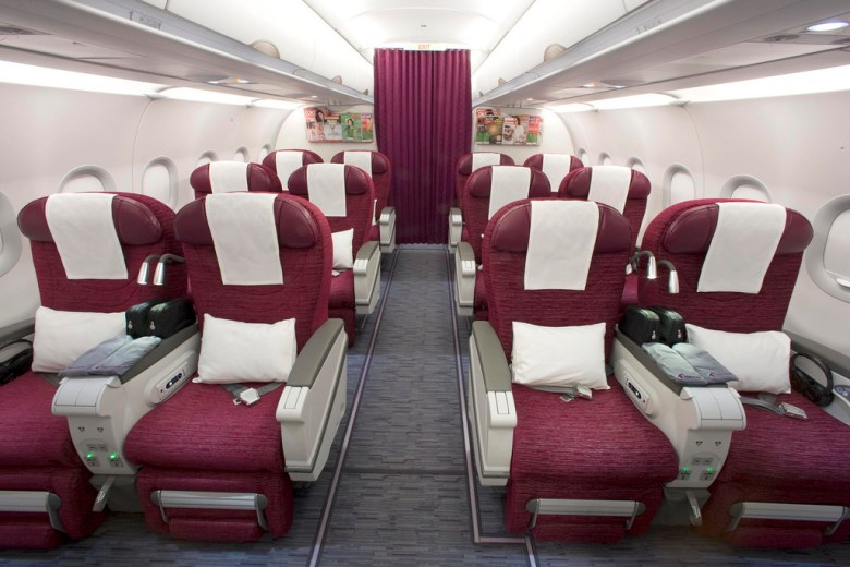 Image result for a320 qatar airways business class