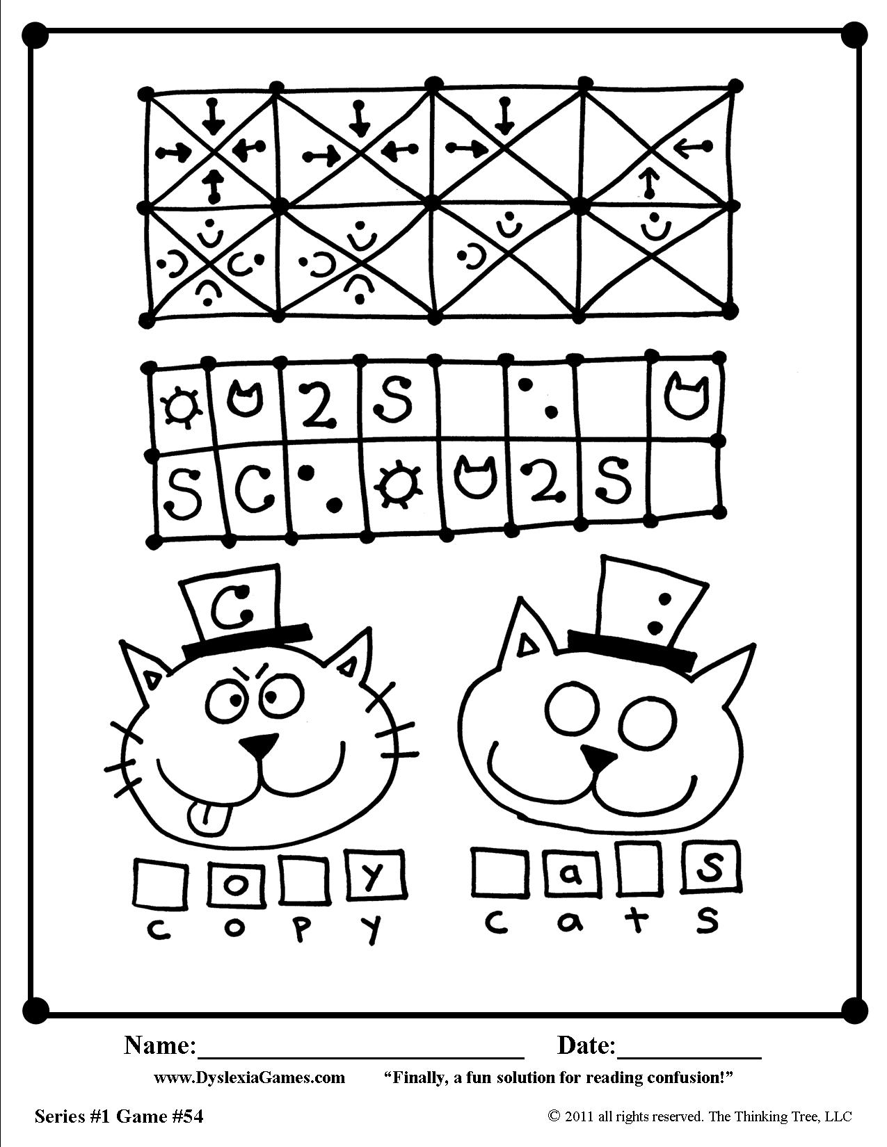 5 Free Dyslexia Games Worksheets For Letter Reversals D B P Amp Q