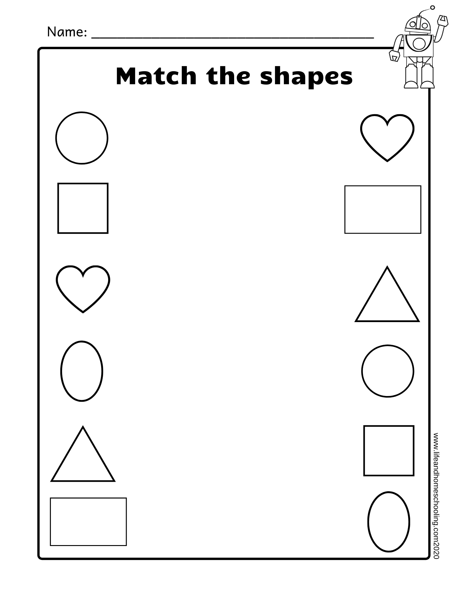 Free Shapes Amp Patterns Printable Worksheets