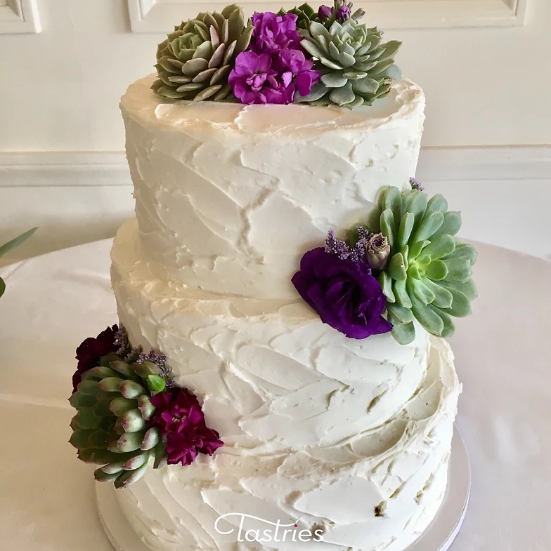 Wedding Cakes Succulent Wedding Cake  Tastries