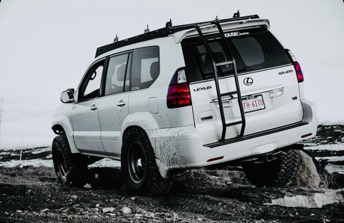 lexus gx 470 rear ladder