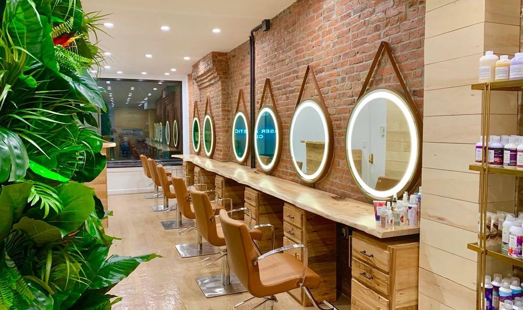 russian hair extensions beige salon