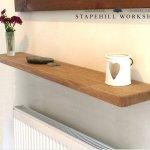Solid Oak Floating Shelf Radiator Hall Bathroom Kitchen Etc Stapehillworkshop