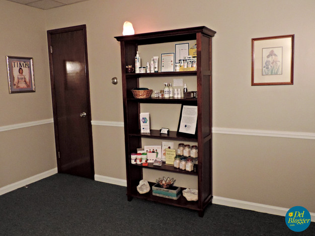 Reception area at Relax Delaware