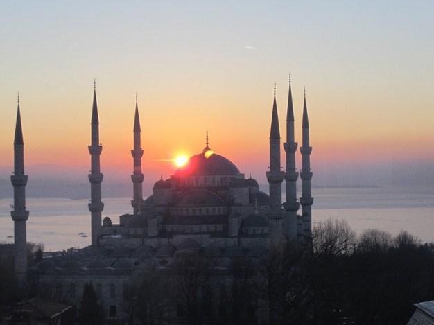 Sunrise over a Mosque