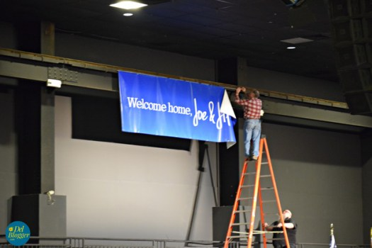 Getting ready for the Welcome Home event