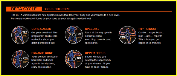 Focus T25 Beta cycle fitness workout program review | ledhealthandfitness