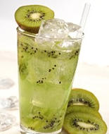 kiwi, fruit infused water