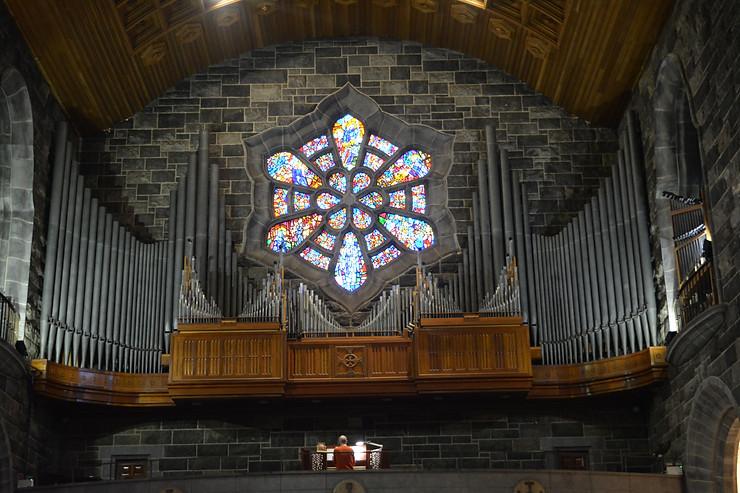 organo de la catedral de Galway road trip en irlanda visitar Galway