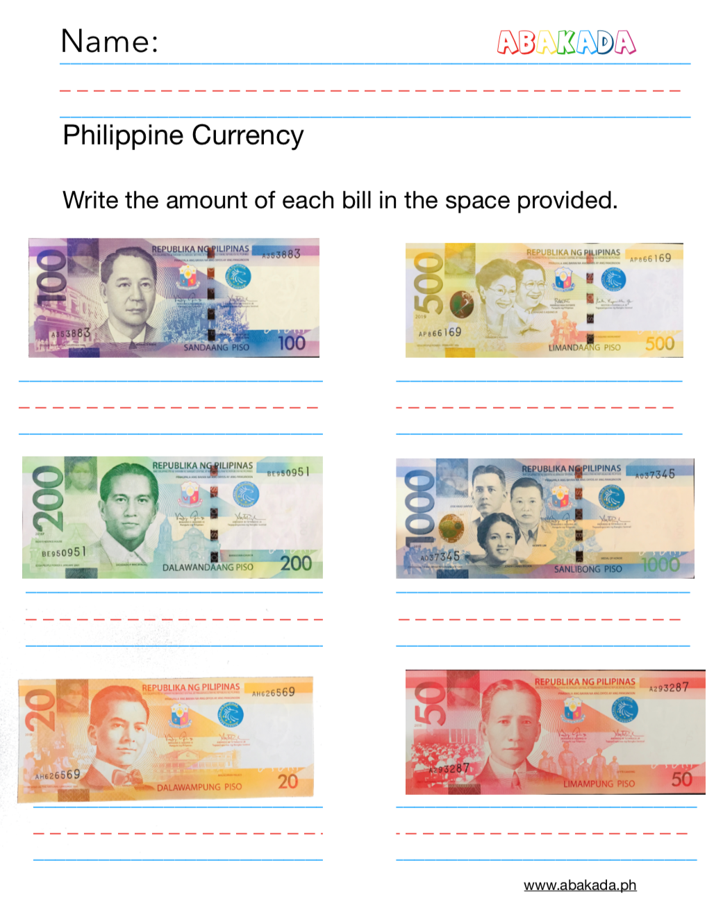 Teaching Financial Literacy Worksheets For Filipino Kids