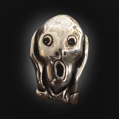 The Scream bespoke sterling silver pendant The Wildness Jewellery
