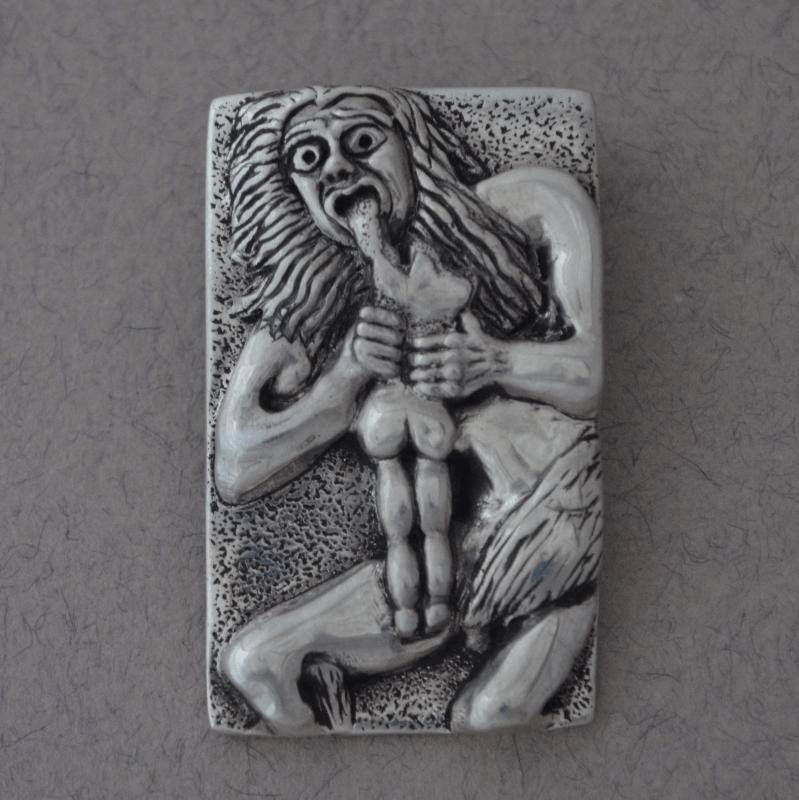 Bespoke Jewellery Saturn Devouring his Son pendant The Wildness Jewellery