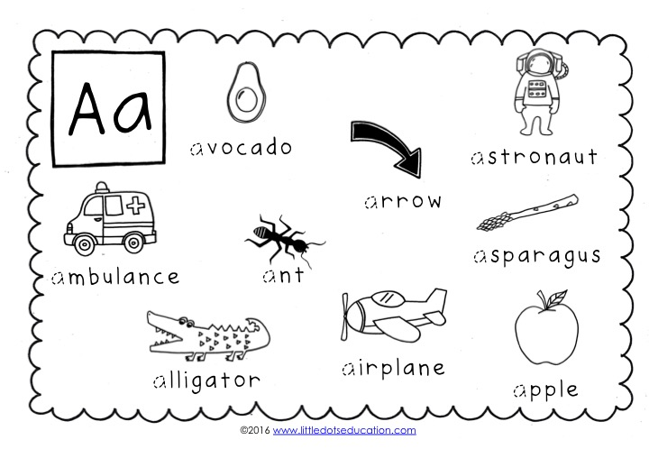 Preschool Alphabet Activities And Worksheets
