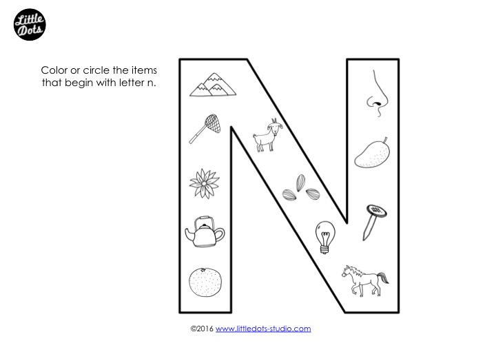 Preschool Letter N Activities And Worksheets