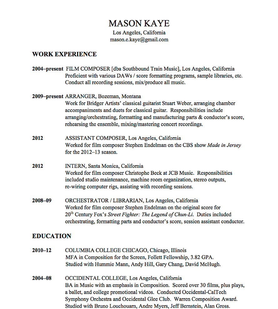 resume format resume format free online resume writing examples