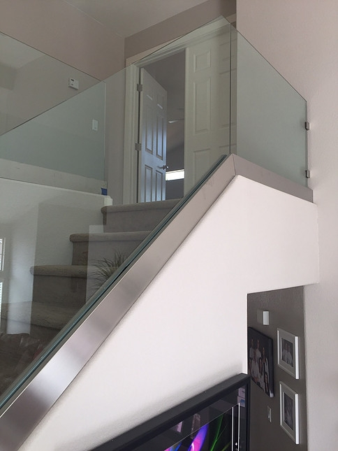 Glass Railing Stair Railways Hearth Home Specialties Las Vegas   Glass Banister Near Me   Frameless Glass   Curved Staircase   Glass Panels   Modern Staircase Design   Toughened Glass