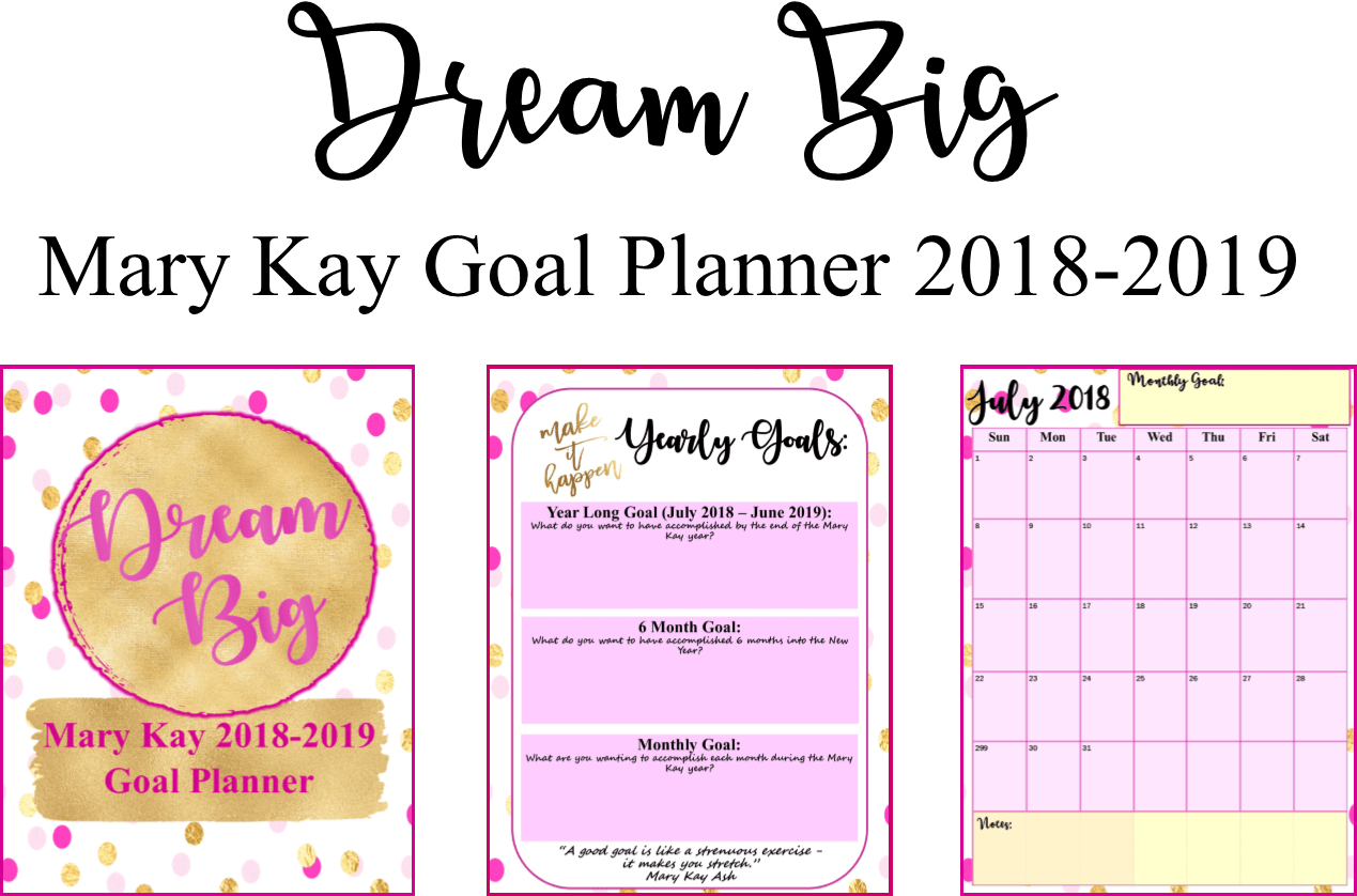 Freebie Editable Mary Kay Dream Big Planner For