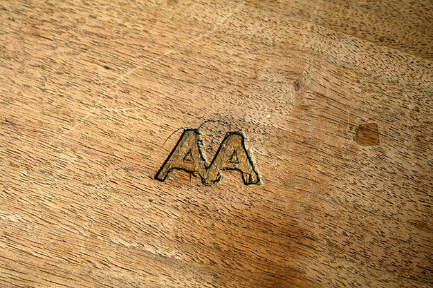 AA etched in wood earthlings pannellbytes