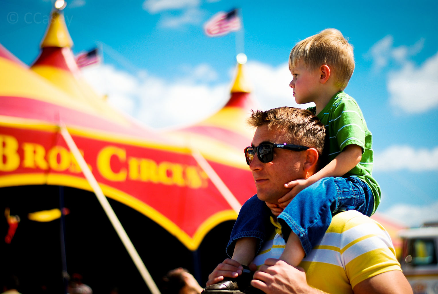 Circus Toddler on Shoulders