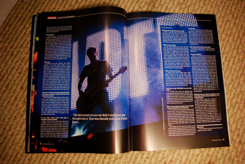 Australian Hysteria Music Magazine Feature A Day to Remember spread