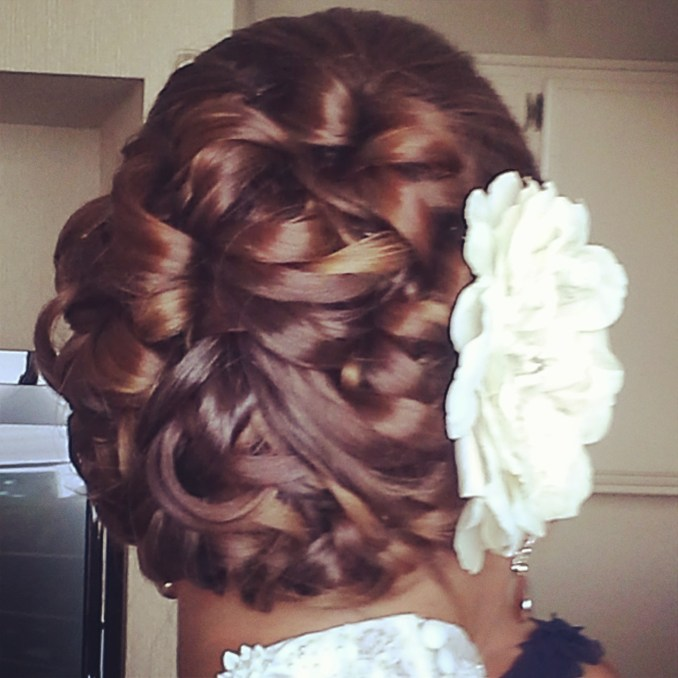 san diego, ca wedding hair and makeup on-location. unique updos