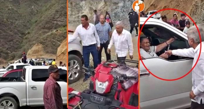 """AMLO saluda a madre de """"El Chapo"""" en Badiraguato: """"Ya recibí tu ..."""