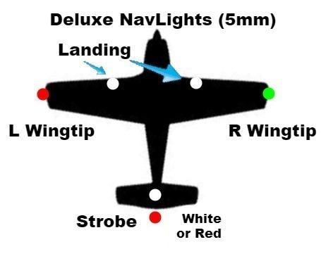 Navigation Lights Radio Control Aircraft