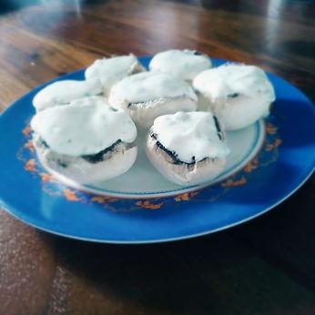 champignons fromage blanc ciboulette échalotes entrée apéro blanc vert minceur light hypocalorique