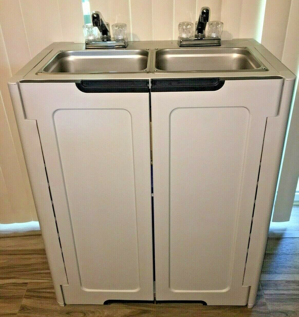 2 compartment portable sink hand wash self contained hot cold water all sink you need