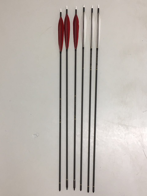 Manchu Target Arrow Extra weight and length to maximize the manchu bow s draw length  8   inch  long feather in the manchu arrow fashion help straighten the flight