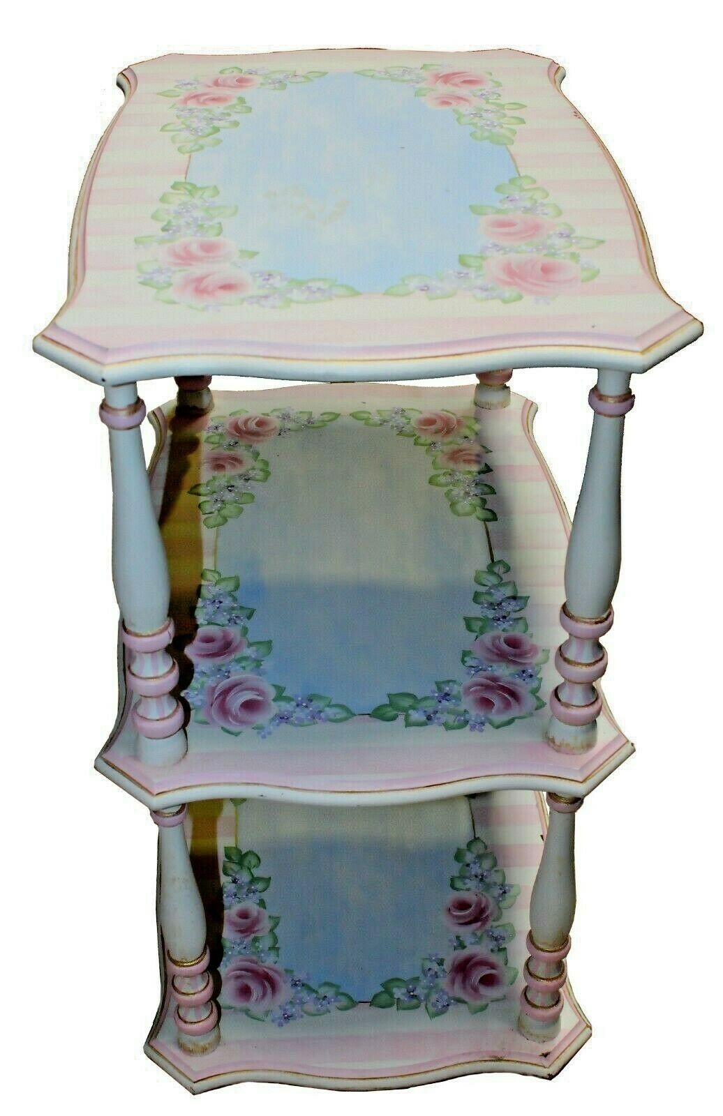 Vintage French Provincial Three Tier Side Table Power Surplus