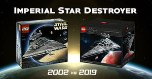 Lego Isd Imperial Star Destroyer 2002 Vs 2019 Comparison