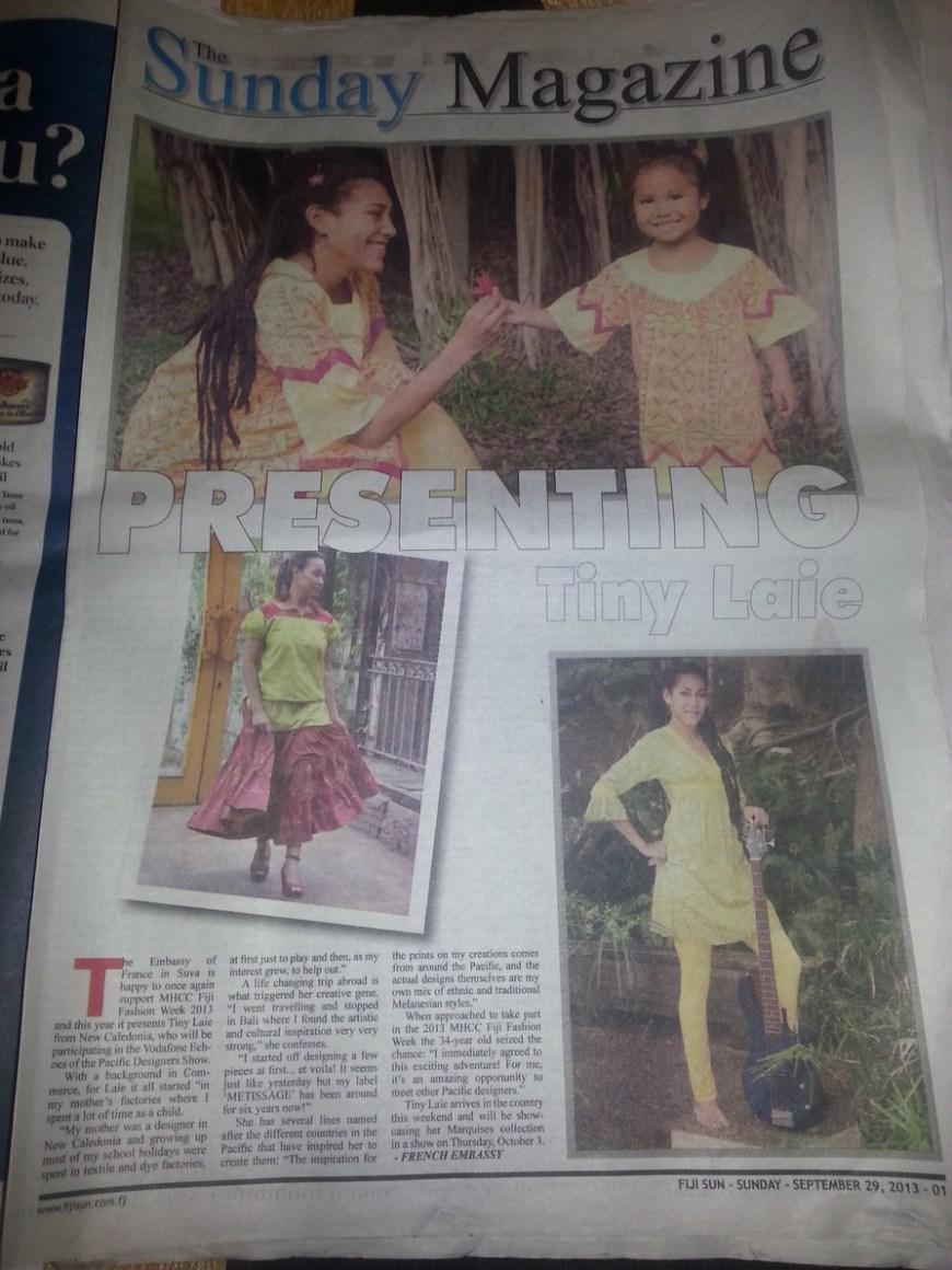 Participation à la Fidjian Fashion Week