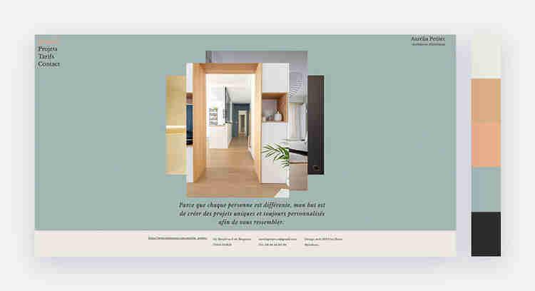 subtle website color palette
