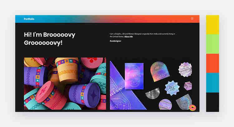 upbeat website color scheme