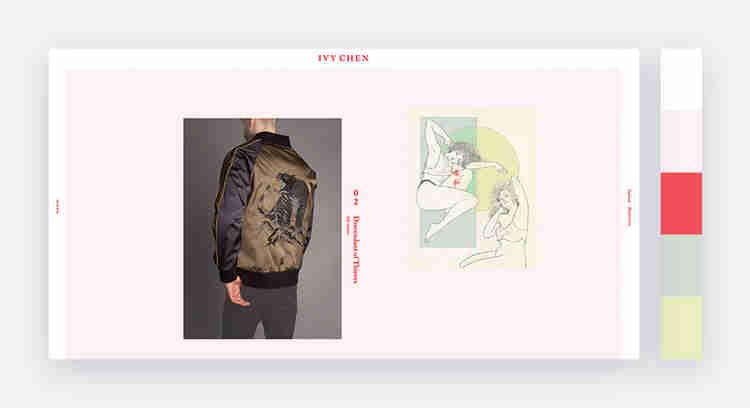 Delicate website color scheme by Ivy Chen