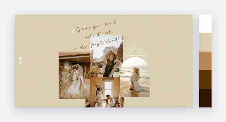 golden shades website color scheme by Jen Pierce photography
