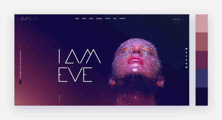 Mystic website color scheme by IAMEVE