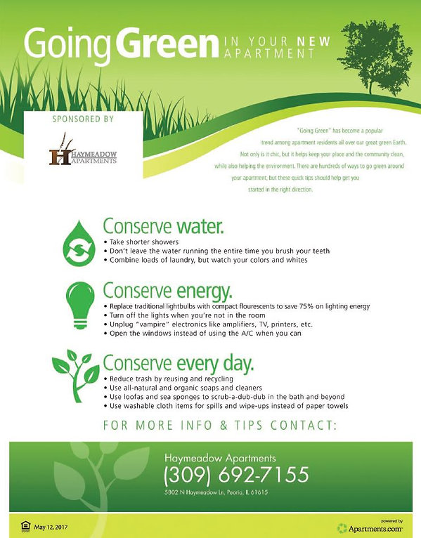 Tips For Going Green In Your Apartment