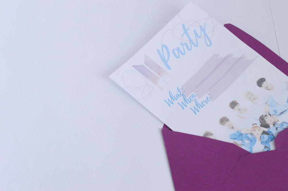 free printable bts party invitation