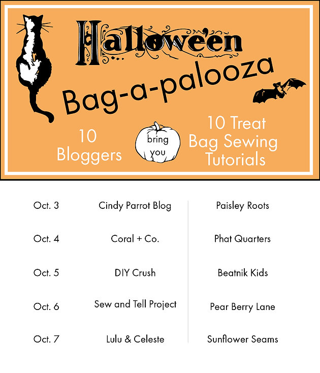 Sunflower Seams | Halloween Tutu Bag, Halloween Bag A Palooza, Free Pattern, Freebie, Tutorial, Halloween, Goodie Bag