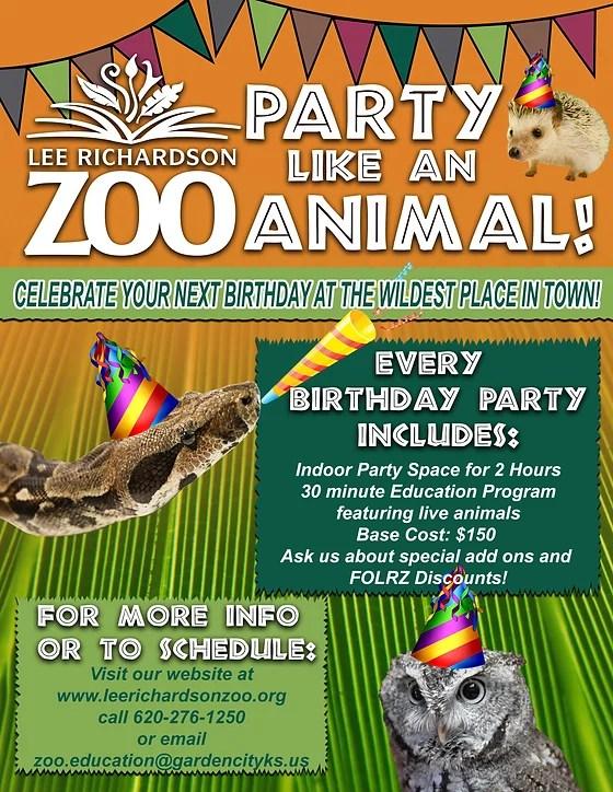 Birthday Parties Lee Richardson Zoo