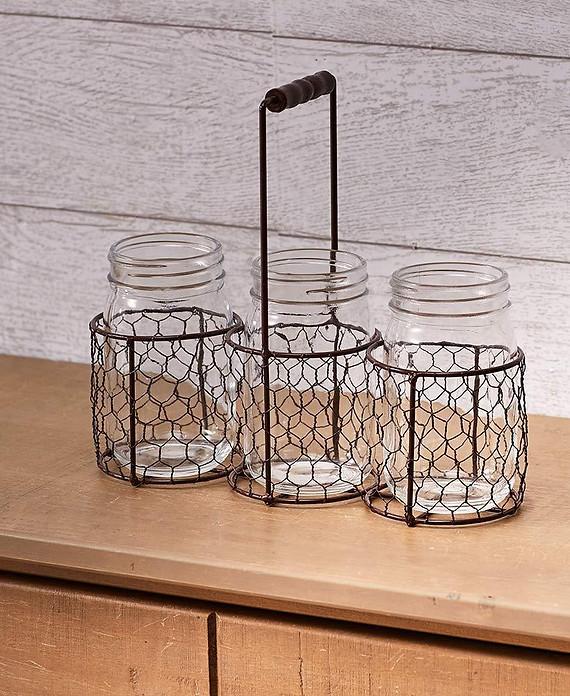 Coffee table mason jars