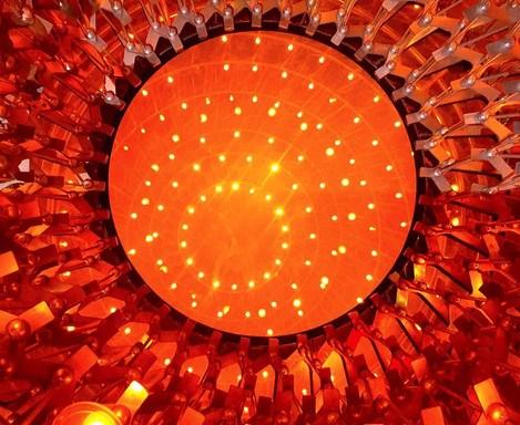 Honey comb Christmas light design at Kew