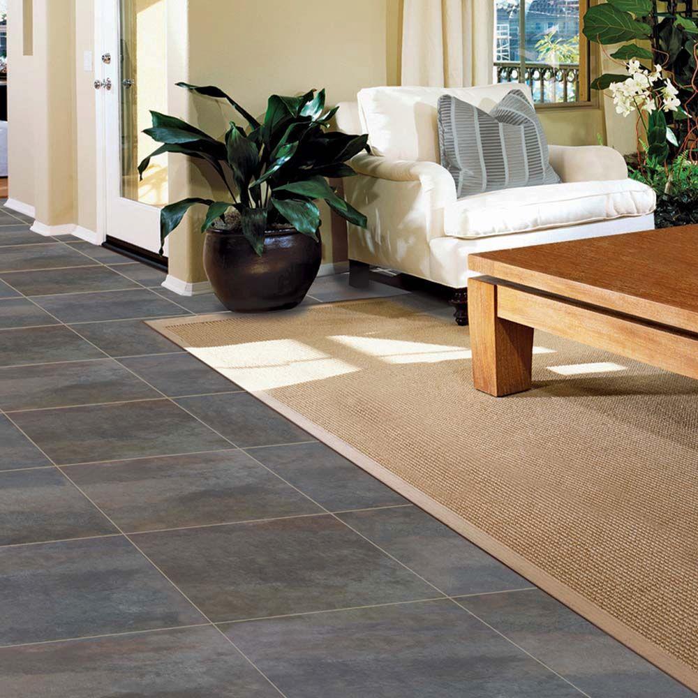 coal oxidized metal vinyl tile 54 sq ft payless dayton